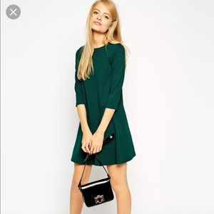 ASOS Women's Emerald Green 3/4 Sleeve Dress